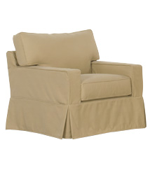 """Kendall """"Grand Scale"""" Slipcover Chair"""