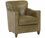 Kenneth Tight Back Leather Accent Chair