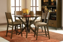 Kipton Contemporary Pub Height Round Casual Dining Collection