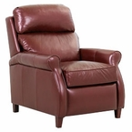 Kirby Leather Recliner With Pop Up Headrest