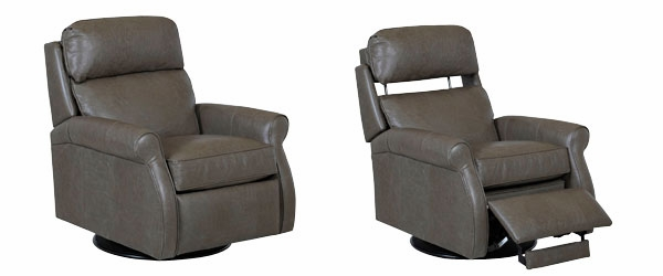 Swivel Leather Recliner With Pop Up Back Rest Club Furniture