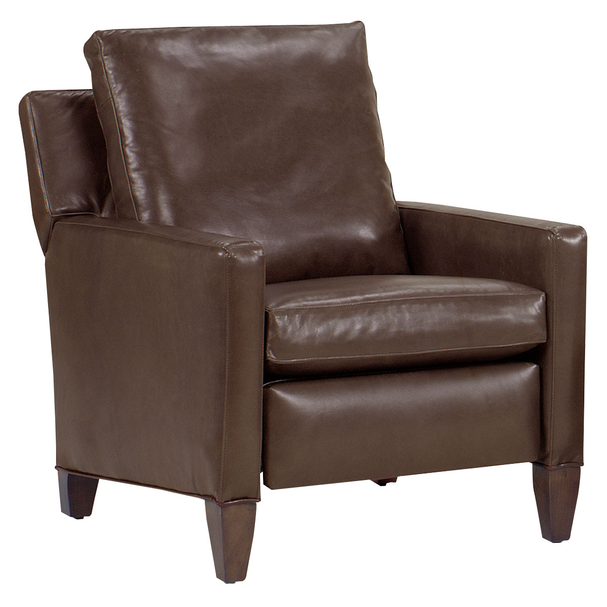 Alvin quot designer style quot tall leg leather reclining chair leather