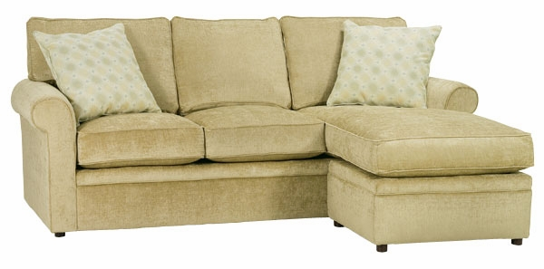 apartment size rolled arm sectional sofa w chaise welt cord trim