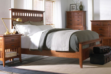 Lancaster Modern Shaker Wood Bedroom Furniture Collection