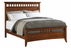 Lancaster Modern Shaker Wood Slat Panel Bed