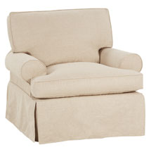 "Laura ""Designer Style"" 360 Degree Swivel Slipcover Chair"