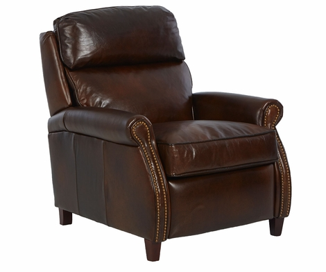 Lionel Pillow Back Leather Reclining Chair With Pop Up Headrest