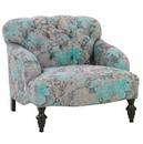"Louise ""Designer Style"" English Arm Fabric Upholstered Chair"
