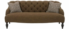 "Louise ""Designer Style"" English Arm Fabric Upholstered Sofa"