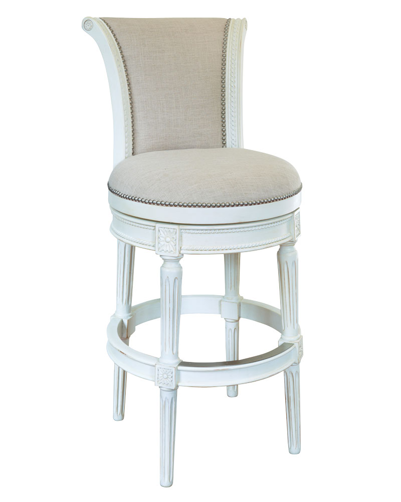 Lowden quotReady To Shipquot Vintage White Swivel Bar amp Counter  : lowden ready to ship vintage white bar counter stool collection 5 from www.clubfurniture.com size 800 x 1000 jpeg 61kB