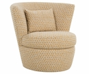 Fabric Upholstered Swivel Tub Accent Chair Club Furniture
