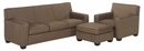 Luke Fabric Upholstered Sofa Set
