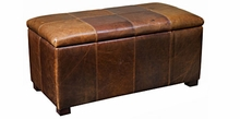 Lyle Leather Upholstered Lift Top Chest Ottoman