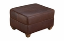"Madison ""Designer Style"" Leather Ottoman"