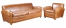 "Madison ""Designer Style"" Leather Sofa Set"