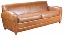 "Madison ""Designer Style"" Low Profile Leather Loveseat"