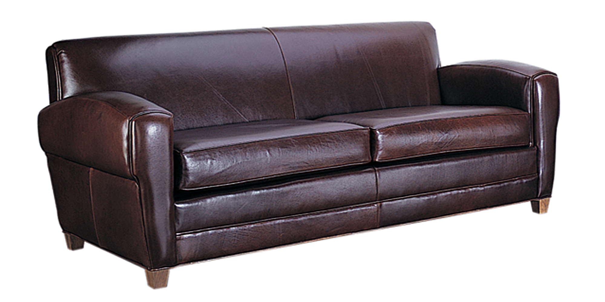 Paris Art Deco Low Profile Italian Leather Sofa With Two  : madison designer style parisian art deco leather sofa collection 1 from www.clubfurniture.com size 2000 x 1000 jpeg 711kB