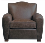 "Magnus ""Quick Ship"" Leather Accent Chair"