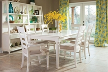 Malibu Antique White Casual Wood Dining Collection