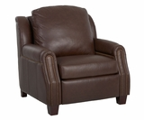 Marcus Power Leather Inclining Chair With Storage Arms