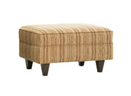 "Margo ""Designer Style"" Contemporary Fabric Upholstered Ottoman"