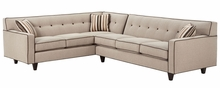Margo Mid Century Modern Button Back Sectional
