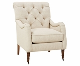 Marni Tufted Back English Arm Accent Chair
