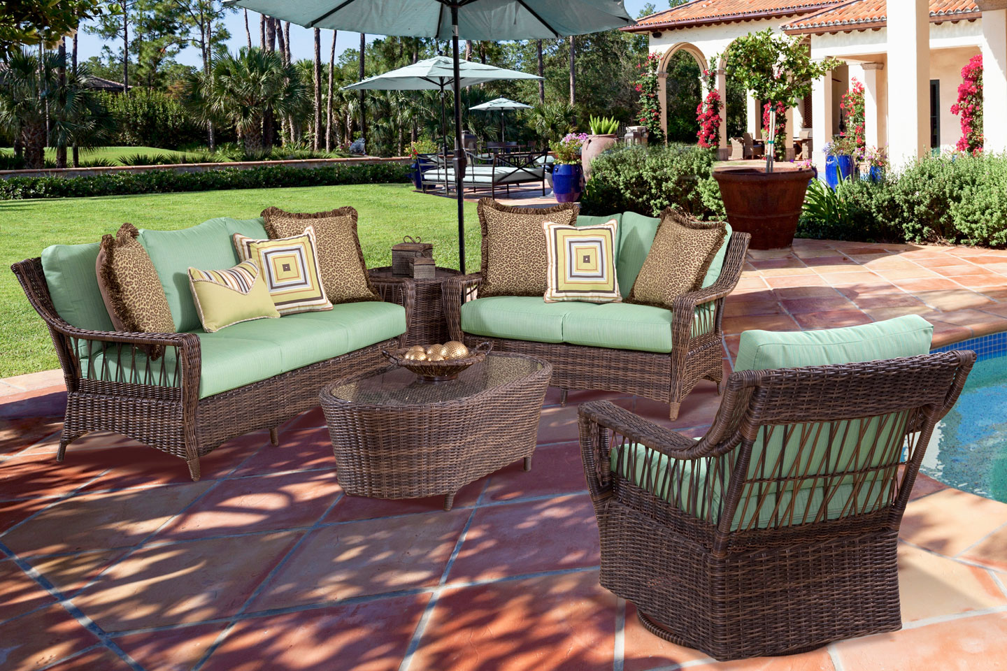 patio seating martinique resin wicker outdoor patio furniture group