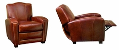 """Marvin """"Designer Style"""" Art Deco Leather Chair Recliner"""