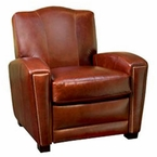 Marvin Art Deco Style Leather Chair Recliner