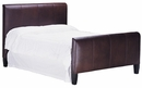 "Mercer Full Fabric Or ""Designer Style"" Leather Headboard & Footboard w/ 7"" Wide Matching Upholstered Side Rails"
