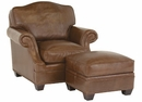 """Merrill """"Designer Style"""" Arched Back Leather Chair w/ Inset Arms"""