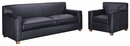 "Metropolitan ""Designer Style"" Leather Queen Sleeper Sofa Set"