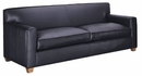 "Metropolitan ""Designer Style"" Tight Back Low Profile Urban Leather Sofa"