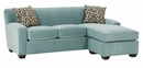 "Michelle ""Designer Style"" Contemporary Small Sofa w/ Chaise Sectional"