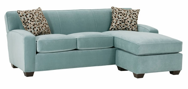 Small Contemporary Fabric Sectional Sofa With Chaise ...