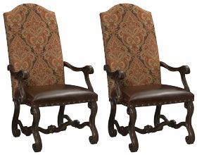 Milford Upholstered Arm Chairs Set of 2
