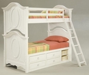 Mirabella Twin Over Twin Or Twin Over Full Bunk Bed w/ Single Underbed Storage Unit