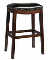 "Moore ""Ready To Ship"" Black Leather Bar & Counter Stool Collection"