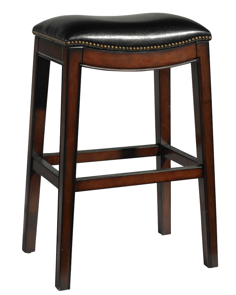 Black Leather Saddle Barstool With Antique Nail Trim  : moore black leather bar conter stool collection 11 from www.clubfurniture.com size 800 x 1000 jpeg 78kB