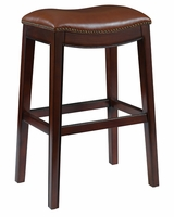 "Moore ""Ready To Ship"" Caramel Brown Leather Counter & Bar Stool Collection"