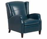 Myers Mid Century Modern Wingback Leather Recliner