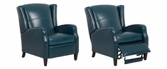 Myers Mid-Century Modern Leather Wing Back Reclining Chair