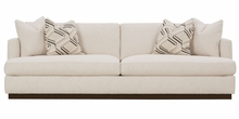 Nanette Large Scale T-Cushion Modern Sofa With Wooden Base