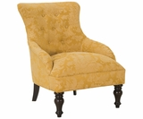 Natalie Victorian Button Tufted Armless Accent Chair