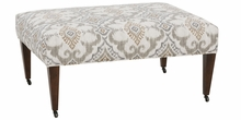 Nathan Tall Caster Leg Fabric Coffee Table Ottoman