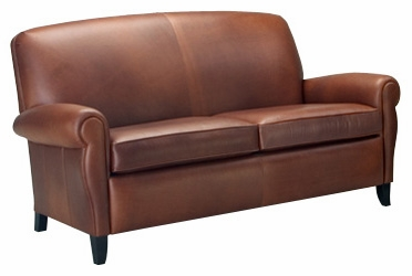 Full Size Leather Sleeper Sofa with Rolled Arms  Club Furniture