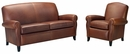 "Newport ""Designer Style"" Leather Studio Sofa & Recliner Set"
