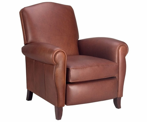 Newport Tall Back Traditional Leather Recline Chair