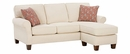 """Nikki """"Designer Style"""" Fabric Upholstered Sectional Couch With Chaise"""